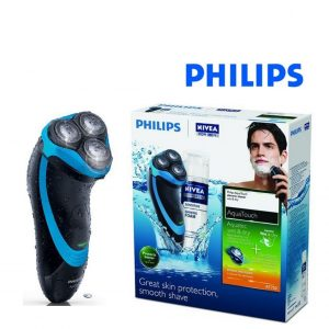 Máquina de Barbear Philips AT750/26 AquaTouch Wet & Dry Preto Azul