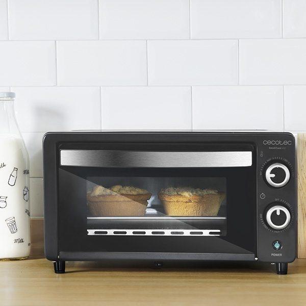 Mini Four Électrique Cecotec Bake/'n Toast 1000W-Couleur-Noir