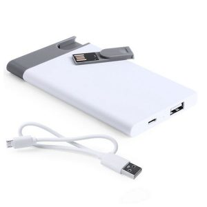 Power Bank 2500 mAh com Pen USB Extraível 8 GB