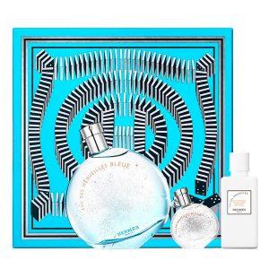 Conjunto de Perfume Mulher Eau Des Merveilles Bleue Hermes (3 pcs)