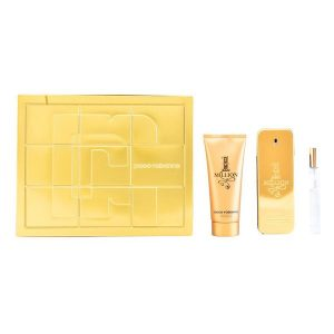 Conjunto de Perfume Homem One Million Paco Rabanne (3 pcs)
