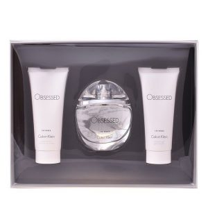Conjunto de Perfume Mulher Obsessed For Women Calvin Klein (3 pcs)