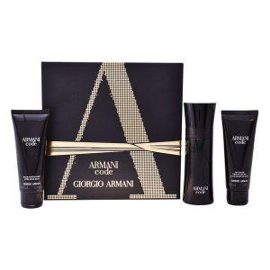 Conjunto de Perfume Homem Code Pour Homme Armani (3 pcs)