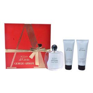 Conjunto de Perfume Mulher Acqua Di Gioia Armani (3 pcs)