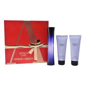 Conjunto de Perfume Mulher Code Armani (3 pcs)