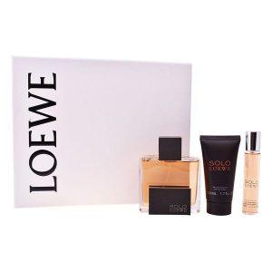 Conjunto de Perfume Homem Solo Loewe (3 pcs)
