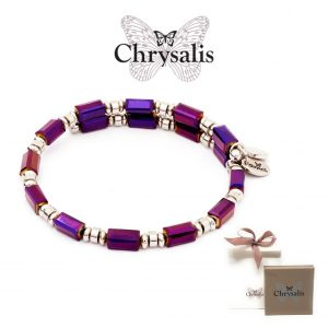 Chrysalis® Bracelet Gaia Winter | Purple | Adaptive Size | With Box or Bag Offer