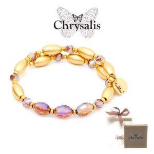 Pulseira Chrysalis® Gaia Fire | Purple | Tamanho Adaptável | Com Caixa ou Saco Oferta