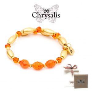 Pulseira Chrysalis® Gaia Fire | Orange | Tamanho Adaptável | Com Caixa ou Saco Oferta