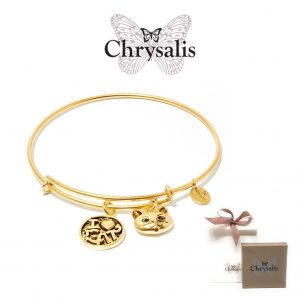 Chrysalis® I Love My Cat Bracelet | Gold | Adaptive Size | With Box or Bag Offer