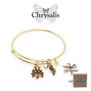 EDIÇÃO ESPECIAL | Pulseira Chrysalis® Acorn | Gold | Tamanho Adaptável | Com Caixa ou Saco Oferta