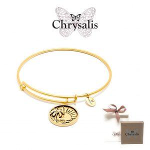 Pulseira Chrysalis® Palm Tree | Gold | Tamanho Adaptável | Com Caixa ou Saco Oferta