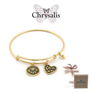 Pulseira Chrysalis® Love | Gold | Tamanho Adaptável | Com Caixa ou Saco Oferta