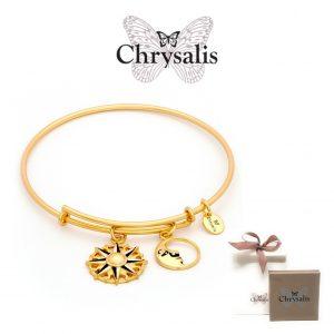 EDIÇÃO ESPECIAL | Pulseira Chrysalis® Sun | Gold | Tamanho Adaptável | Com Caixa ou Saco Oferta