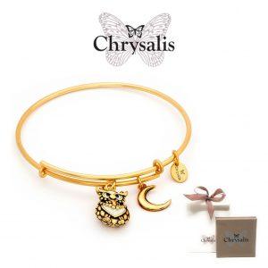 EDIÇÃO ESPECIAL | Pulseira Chrysalis® Owl | Gold | Tamanho Adaptável | Com Caixa ou Saco Oferta