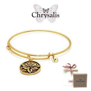 Pulseira Chrysalis® Flower | Gold | Tamanho Adaptável | Com Caixa ou Saco Oferta