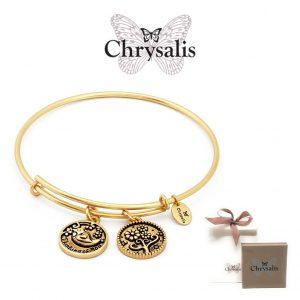 Pulseira Chrysalis® Thinking of You | Gold | Tamanho Adaptável | Com Caixa ou Saco Oferta