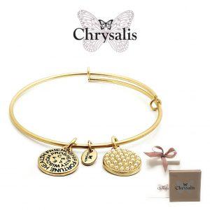 EDIÇÃO ESPECIAL | Pulseira Chrysalis® Glass Pearl | Gold | Tamanho Adaptável | Com Caixa ou Saco Oferta