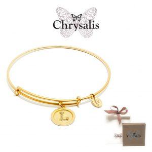 Pulseira Chrysalis® Letter L | Gold | Tamanho Adaptável | Com Caixa ou Saco Oferta