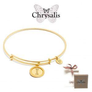 Pulseira Chrysalis® Letter I | Gold | Tamanho Adaptável | Com Caixa ou Saco Oferta