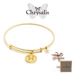 Pulseira Chrysalis® Letter H | Gold | Tamanho Adaptável | Com Caixa ou Saco Oferta