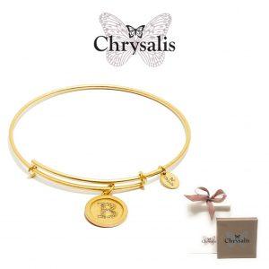 Pulseira Chrysalis® Letter B | Gold | Tamanho Adaptável | Com Caixa ou Saco Oferta