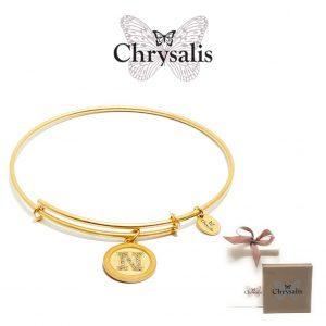 Pulseira Chrysalis® Letter N | Gold | Tamanho Adaptável | Com Caixa ou Saco Oferta