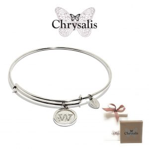 Chrysalis® Letter W Bracelet | Silver | Adaptive Size | With Box or Bag Offer