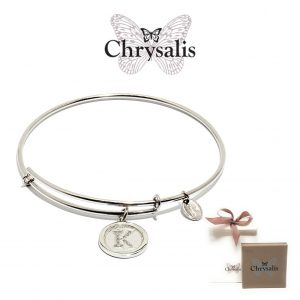 Chrysalis® Letter K Bracelet | Silver | Adaptive Size | With Box or Bag Offer