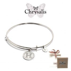 Pulseira Chrysalis® Letter H | Silver | Tamanho Adaptável | Com Caixa ou Saco Oferta