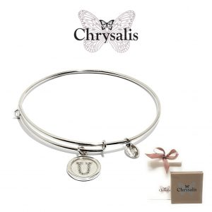 Chrysalis® Letter U Bracelet | Silver | Adaptive Size | With Box or Bag Offer