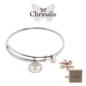 Pulseira Chrysalis® Letter T | Silver | Tamanho Adaptável | Com Caixa ou Saco Oferta
