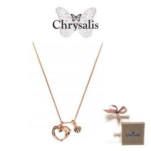 Colar Chrysalis® Aphrodites Heart | Rose Gold | 54cm | Com Caixa e Saco Oferta