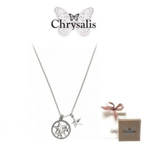 Chrysalis® Lucky Star Necklace | Silver | 54cm | With Box and Bag Offer