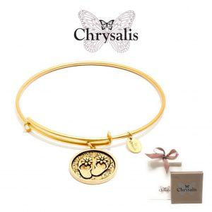 Pulseira Chrysalis® Flip Flop | Gold | Tamanho Adaptável | Com Caixa ou Saco Oferta