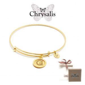 Pulseira Chrysalis® Letter G | Gold | Tamanho Adaptável | Com Caixa ou Saco Oferta