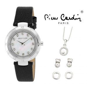 Conjunto Pierre Cardin® PCX4023L12 | Relógio | Colar | 2 Pares de Brincos