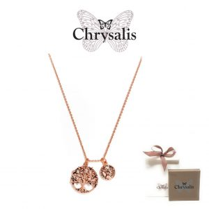 Colar Chrysalis® Money Tree | Rose Gold | 54cm | Com Caixa ou Saco Oferta
