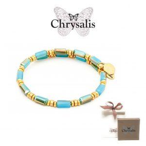Pulseria Chrysalis® Gaia Water | Turquoise | Tamanho Adaptável | Com Caixa ou Saco Oferta