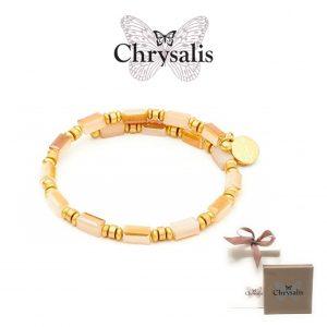 Bracelet Chrysalis® Gaia Water | Orange White | Adaptive Size | With Box and Bag Offer
