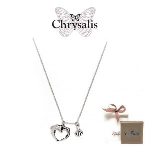 Necklace Chrysalis® Haphrodite Heart Rhodium Flash | Silver | 54cm | With Box and Bag Offer