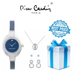 Conjunto Pierre Cardin® PCX6179L263 | Relógio | Colar | 1 Par de Brincos