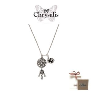 Chrysalis® Dream Catcher Necklace | Rose Gold | 54cm | With Box and Bag Offer