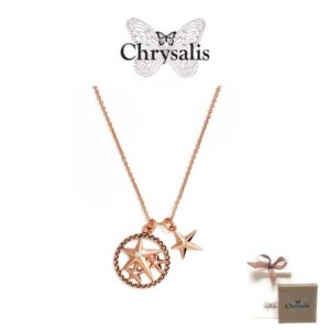 Chrysalis® Lucky Star Necklace | Rose Gold | 54cm | With Box and Bag Offer