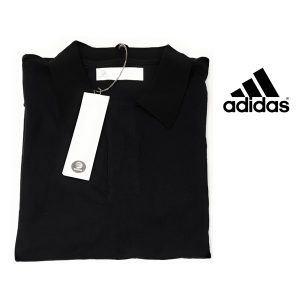 Adidas® Polo Slvr Black | 100% Algodão