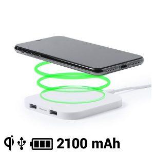 Carregador Sem Fios para Smartphones Qi 2100 mAh USB