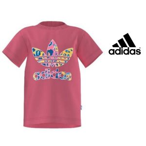 Adidas® T-Shirt Originals Pink Junior | 100% Algodão