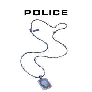 Colar Police® PJ25607PSEBL-SKULL