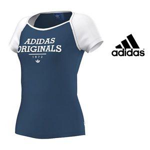 Adidas® T-Shirt Uni Logo Blue | 100% Algodão