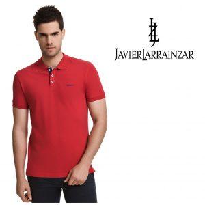 Javier Larrainzar® Polo Vermelho | Tamanho L | 100% Algodão